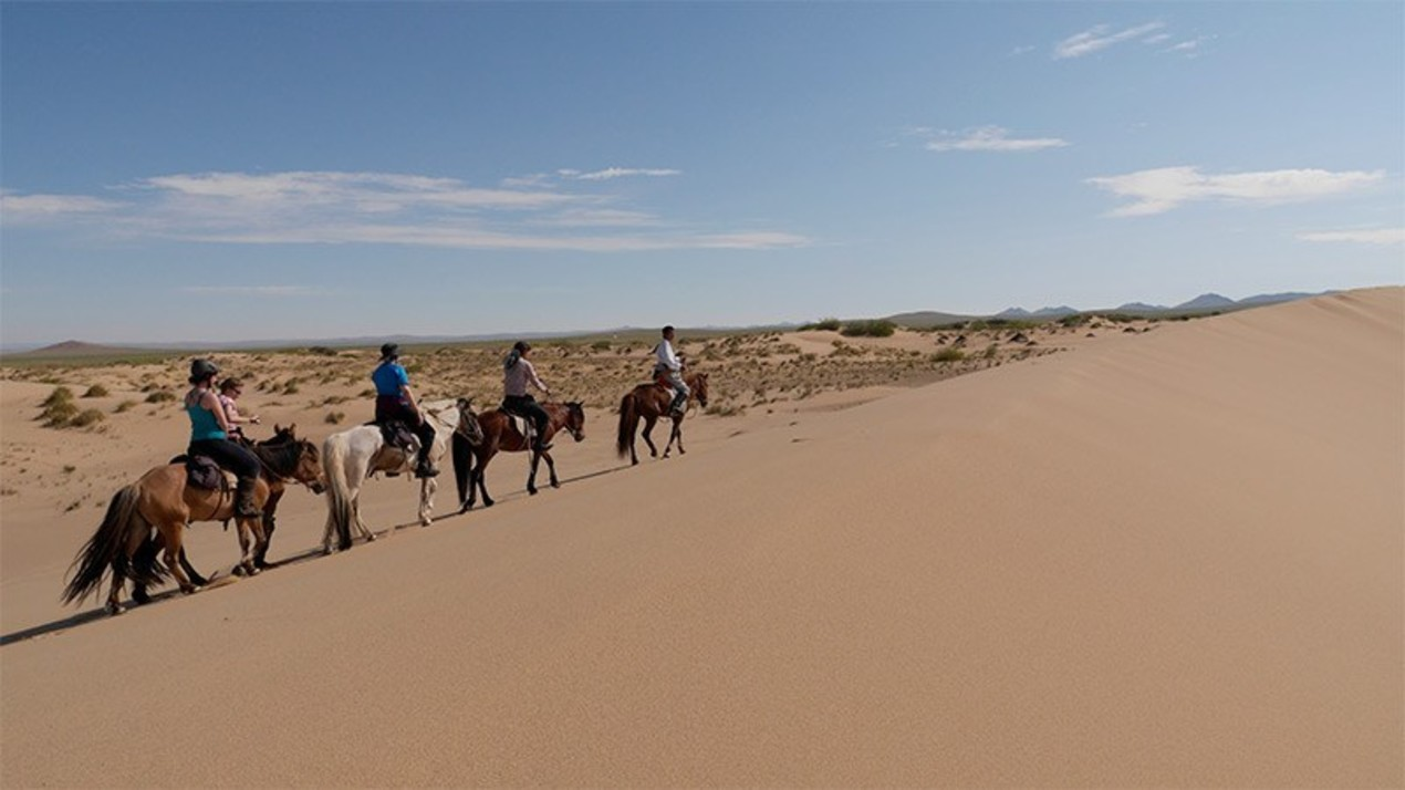 Nomadentocht te paard in Mongolië